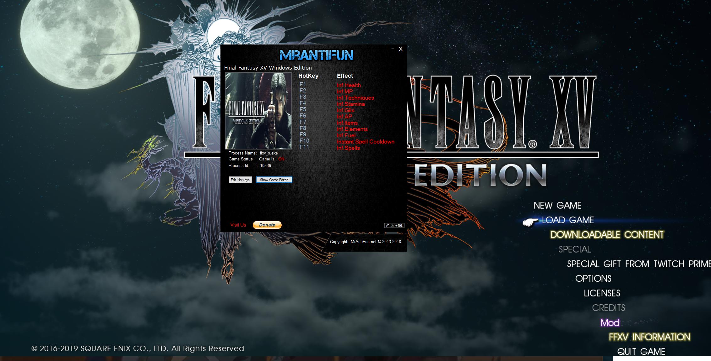 Final Fantasy XV Windows Edition Trainer | Page 14